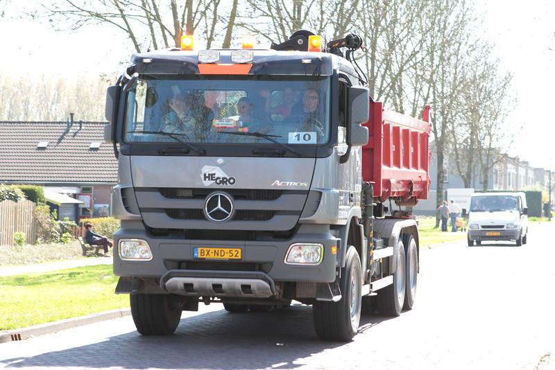 Veel belangstelling voor truckerstour